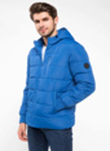DeFacto Kapşonlu Şişme Mont Mavi